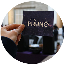 PhUnC card being held in hand